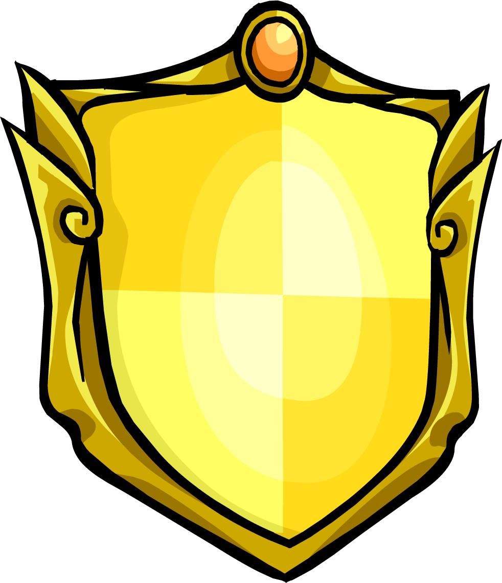 Golden club penguin rewritten. Clipart shield medieval shield