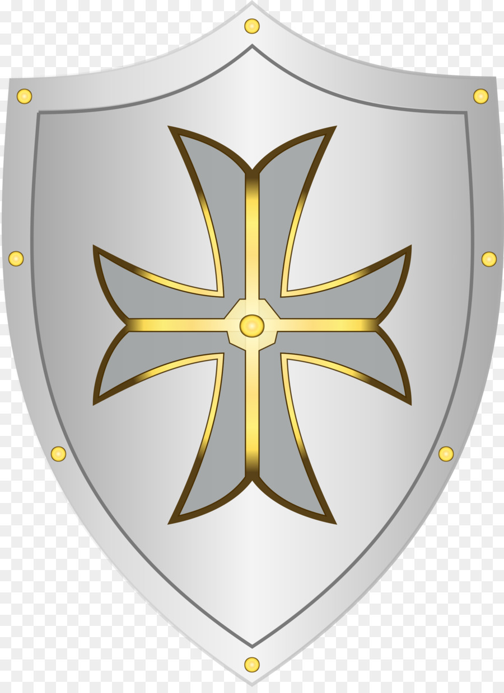 Cross symbol knight transparent. Clipart shield medieval shield