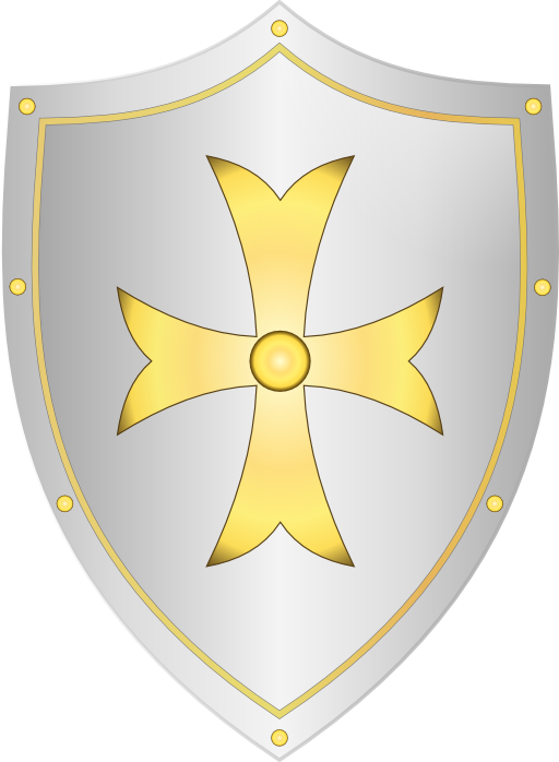 Clipart shield metallic. Classic medieval i royalty