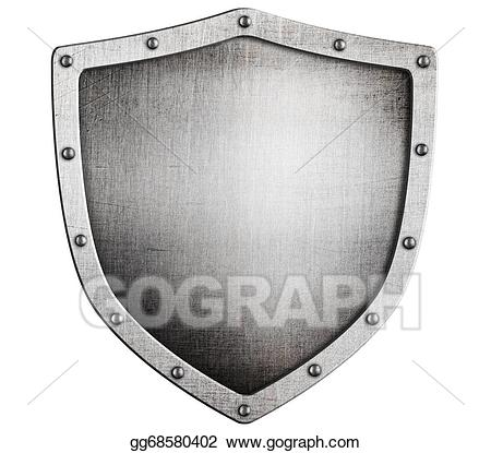 Clipart shield metallic. Stock illustration old medieval