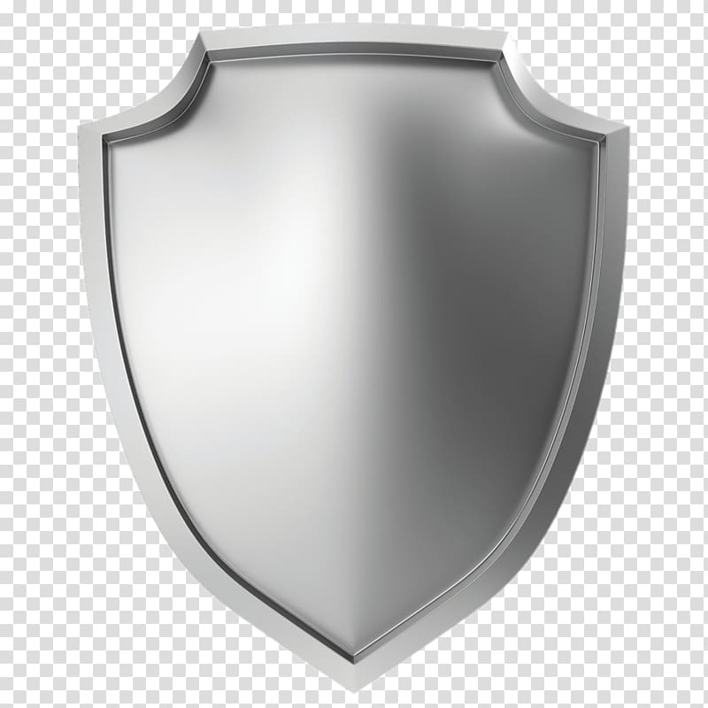 Metal illustration icon silver. Clipart shield metallic
