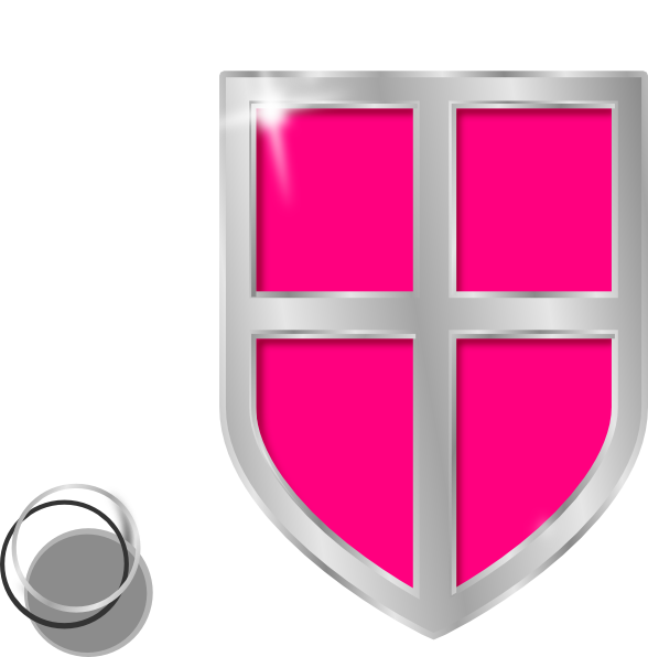 Clipart shield pink. Clip art at clker