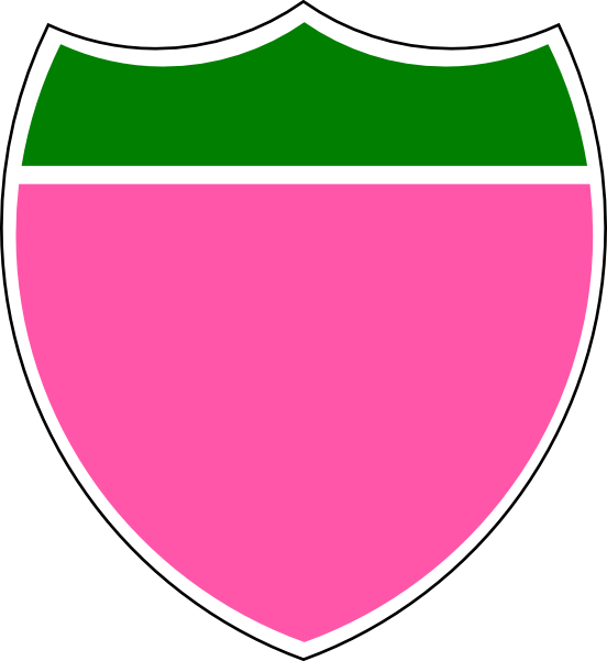 Gree clip art at. Clipart shield pink