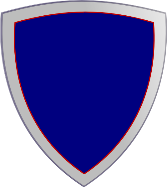 Blue security clip art. Clipart shield plain