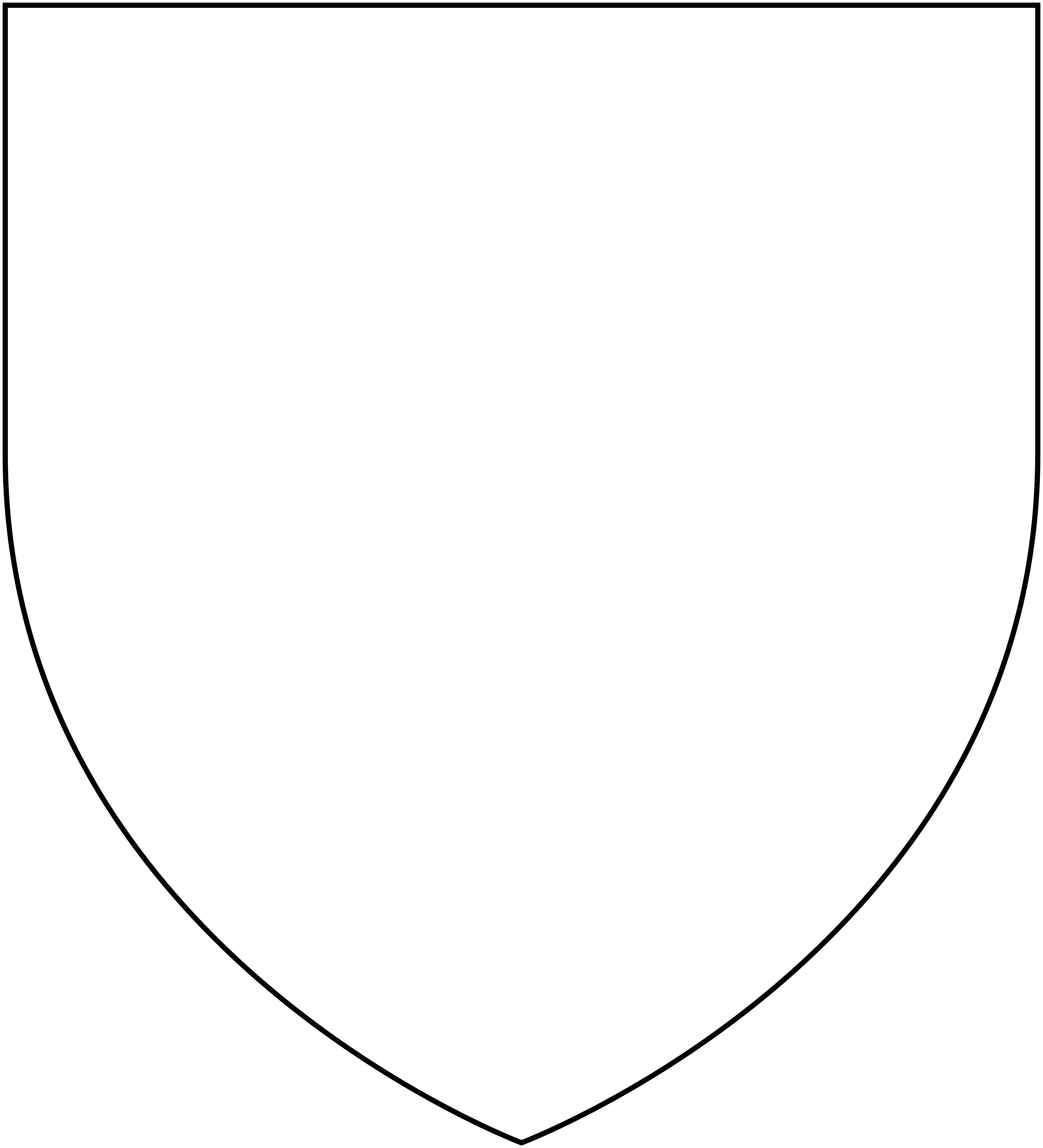 File heraldic shape x. Clipart shield plain