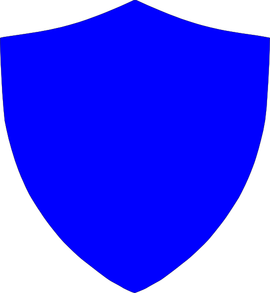 Clipart shield plain. New blue crest clip
