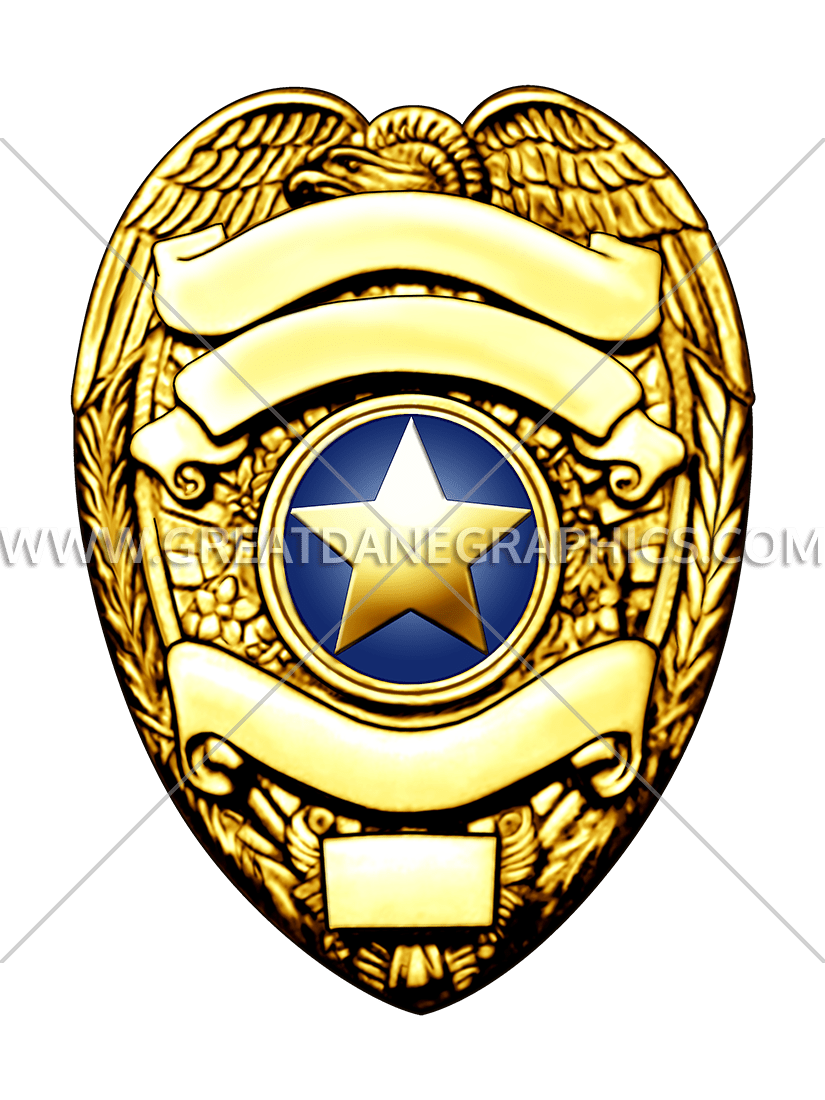 Gold police production ready. Football clipart badge