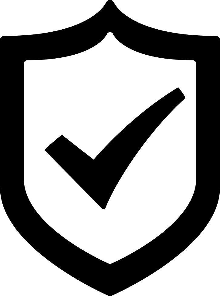With a check mark. Clipart shield protection shield