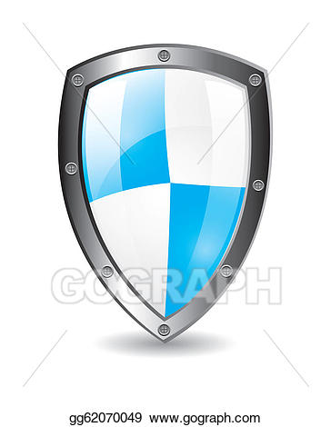 Clipart shield protection shield. Vector illustration eps