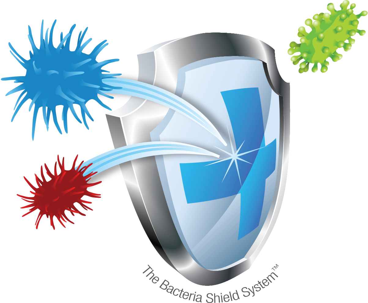 Flu clipart bacteria. Electrostatic disinfection shield http