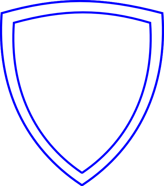 Clipart shield public domain. White with blue outline