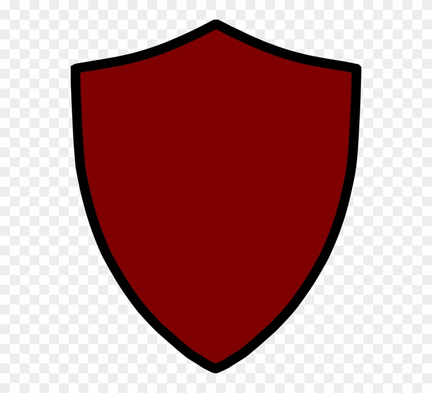 Blank red coat of. Clipart shield public domain