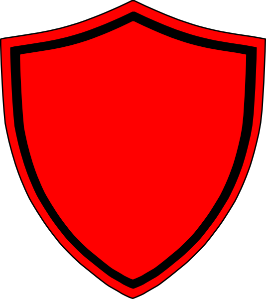 Clipart shield red black. Clip art at clker