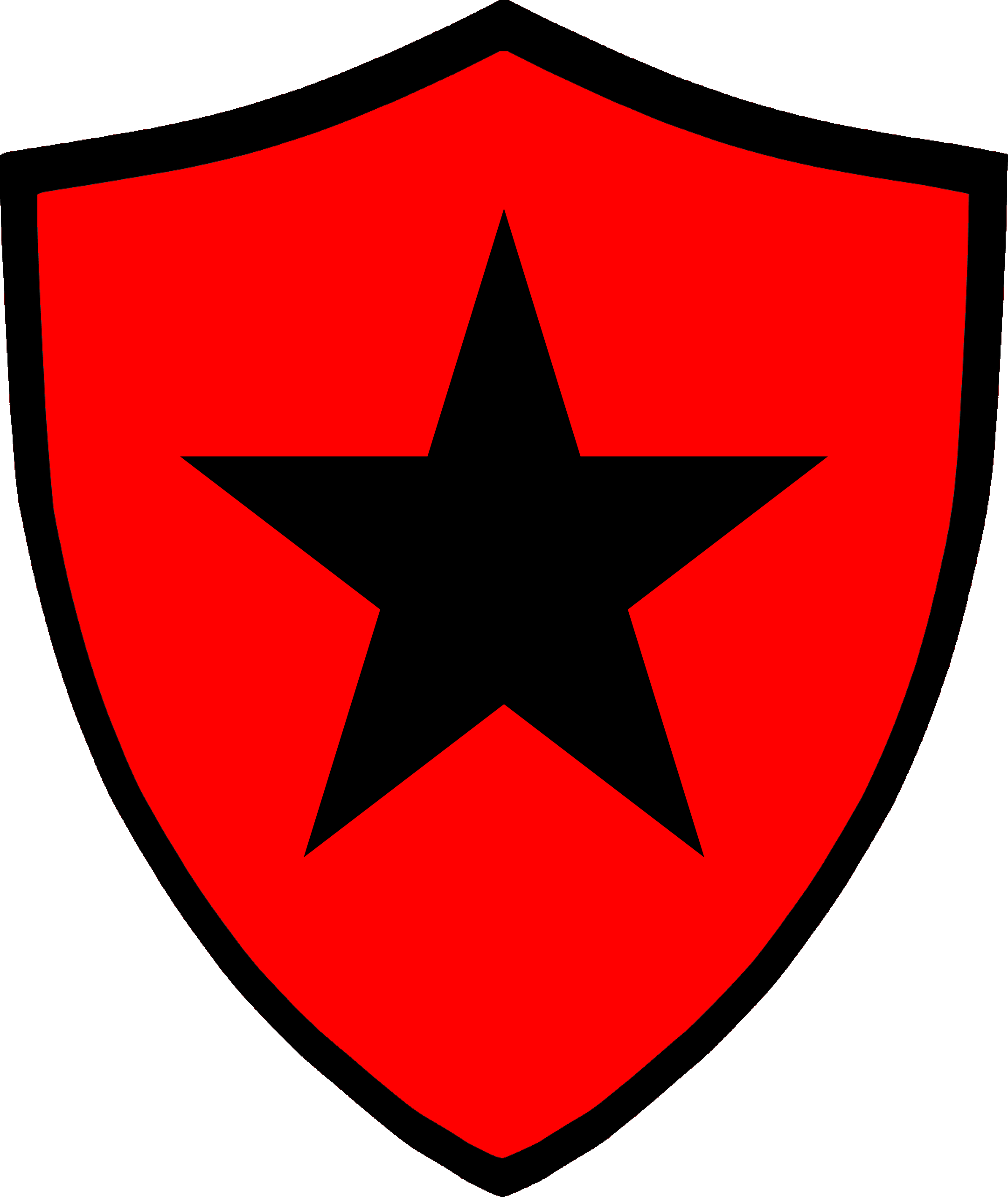 Clipart shield red black. File emblem icon png