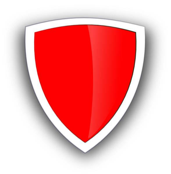 Clipart shield red black. White clip art at