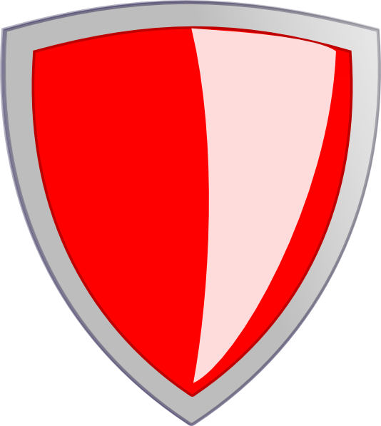 clipart shield red black