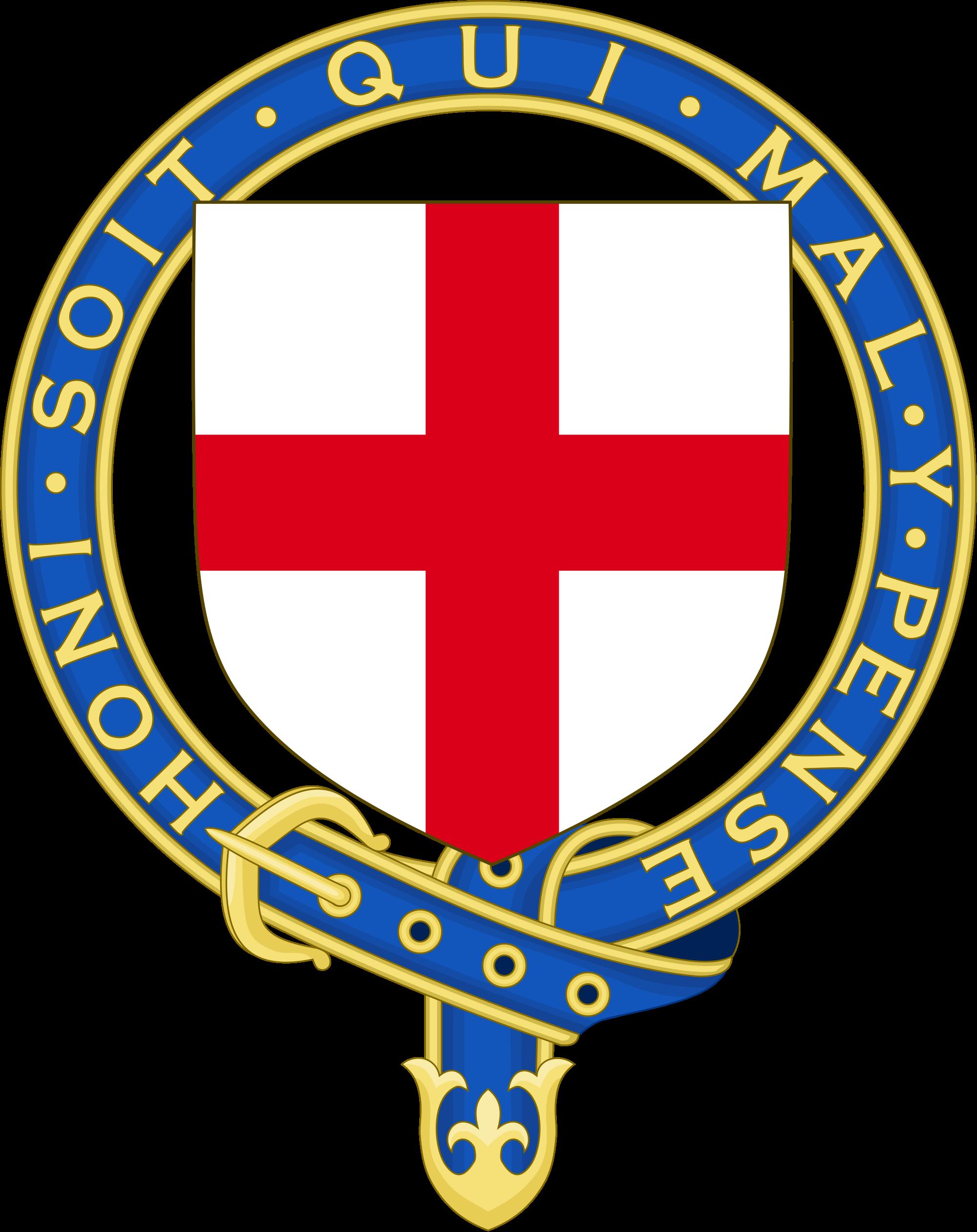 Order of the garter. Clipart shield ribbon