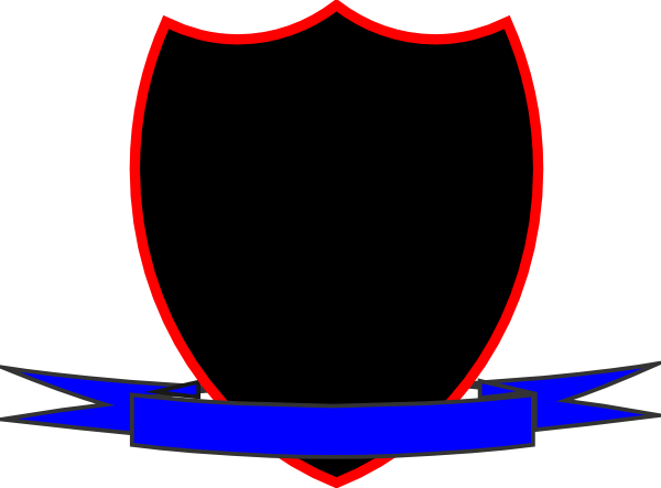 Clipart shield ribbon. Clip art vector panda