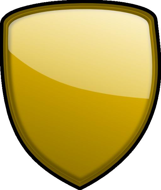 Gold i free public. Clipart shield royalty