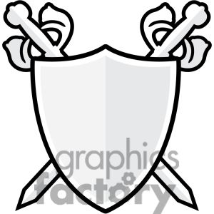 Clipart shield royalty. Sword and free