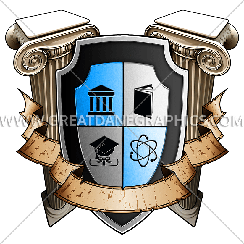 Of learning production ready. Clipart shield school