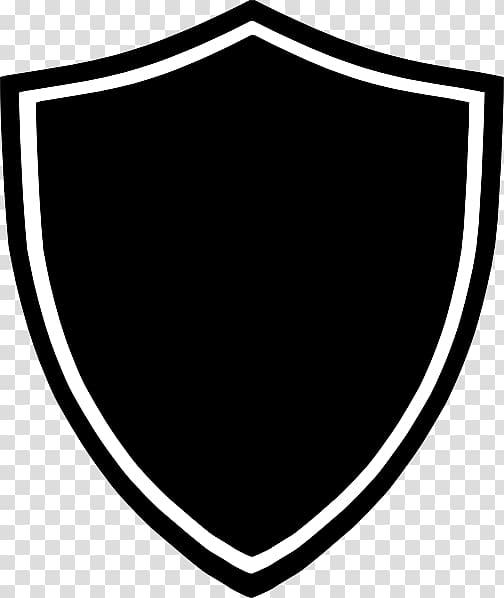 Black white and . Clipart shield shield logo