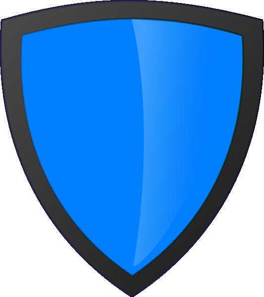 Blue with dark edge. Clipart shield shield logo