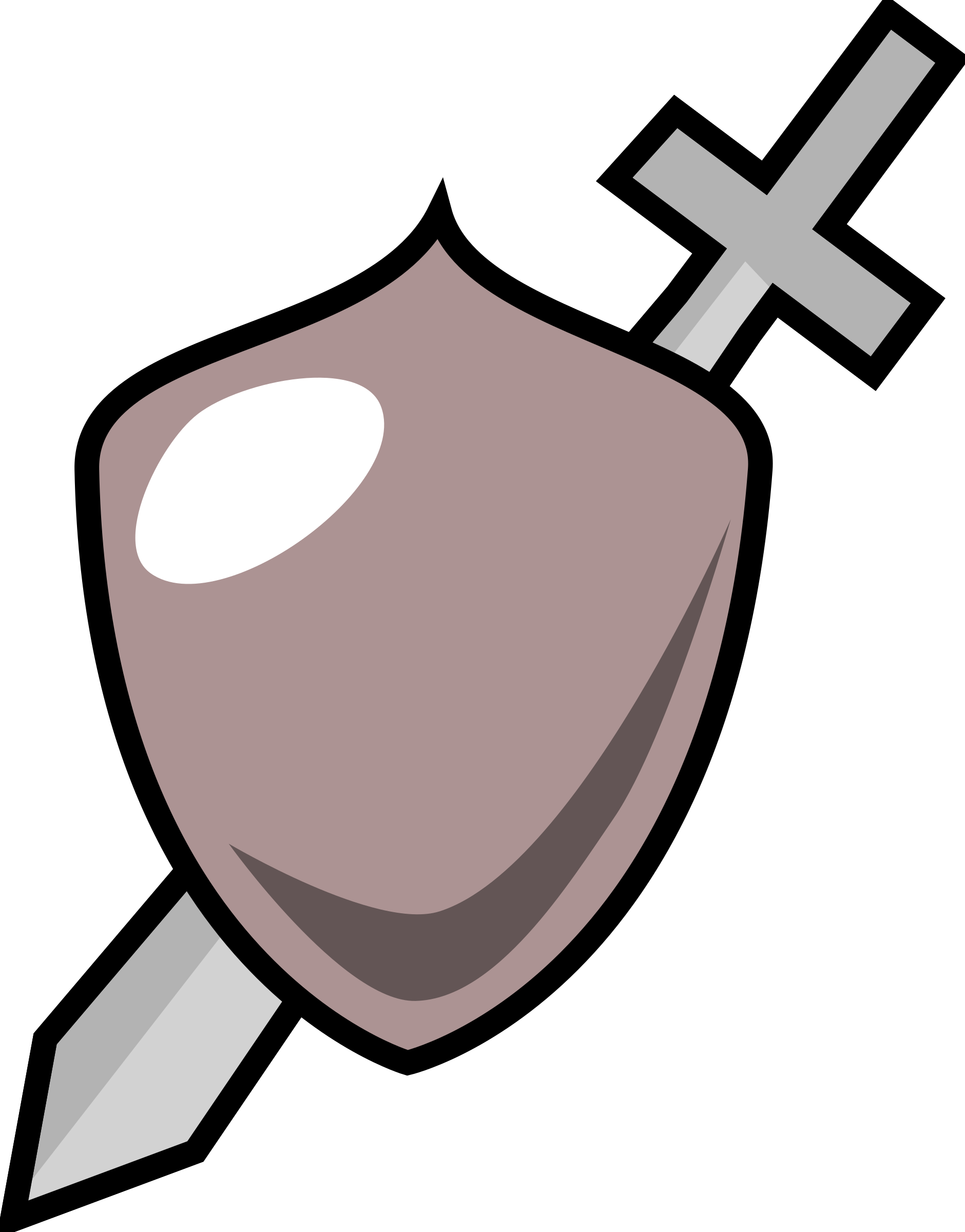 Clipart shield shield outline. Sword and icon big