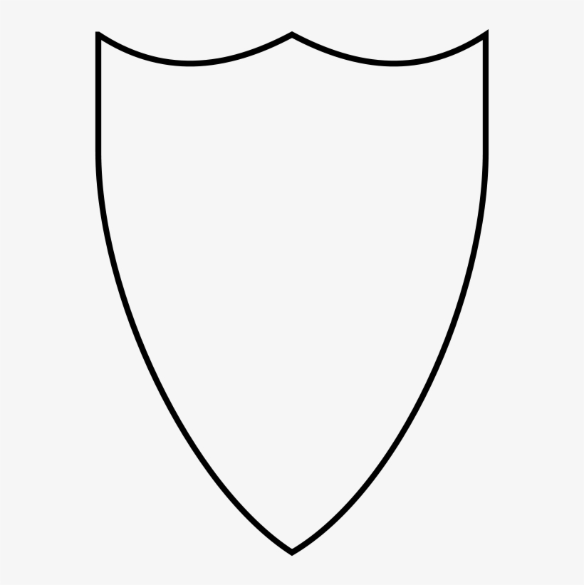 Transparent black and white. Clipart shield shield outline