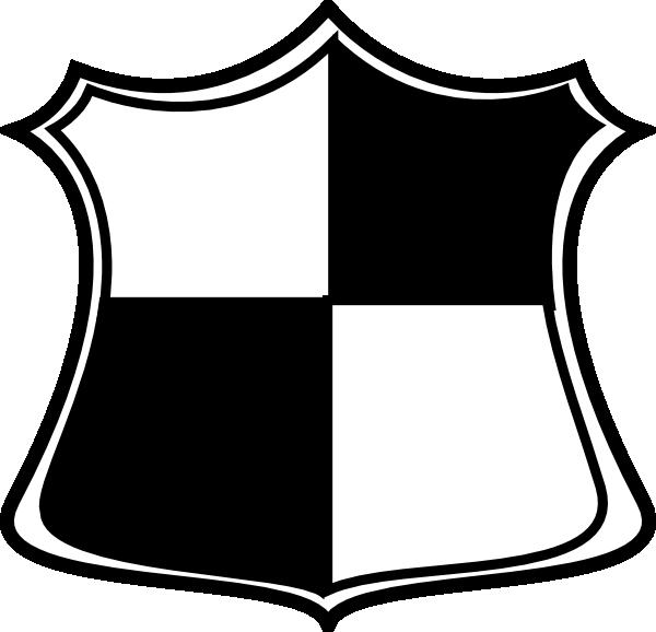 L clipart black and white. Shield clip art at