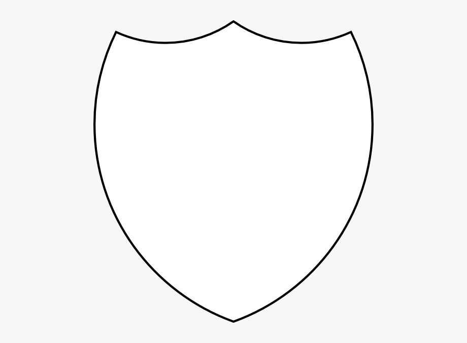 Clipart shield shild. Template outline free