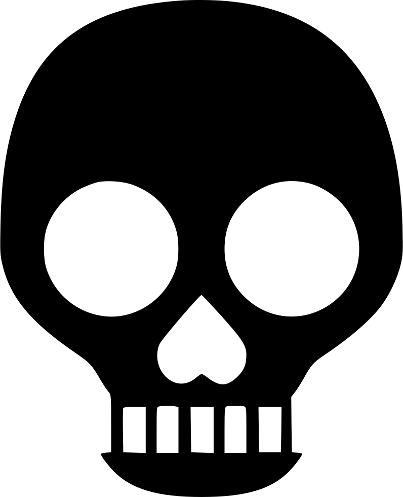 Clipart shield skull. Warning danger skeleton acid