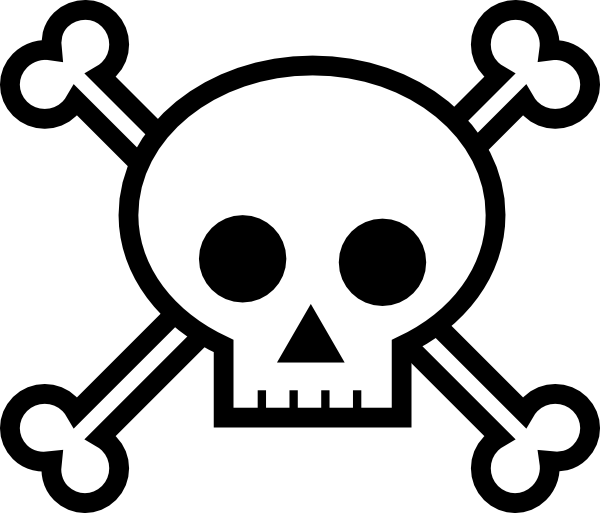 Skull and crossbones clip. Death clipart scull