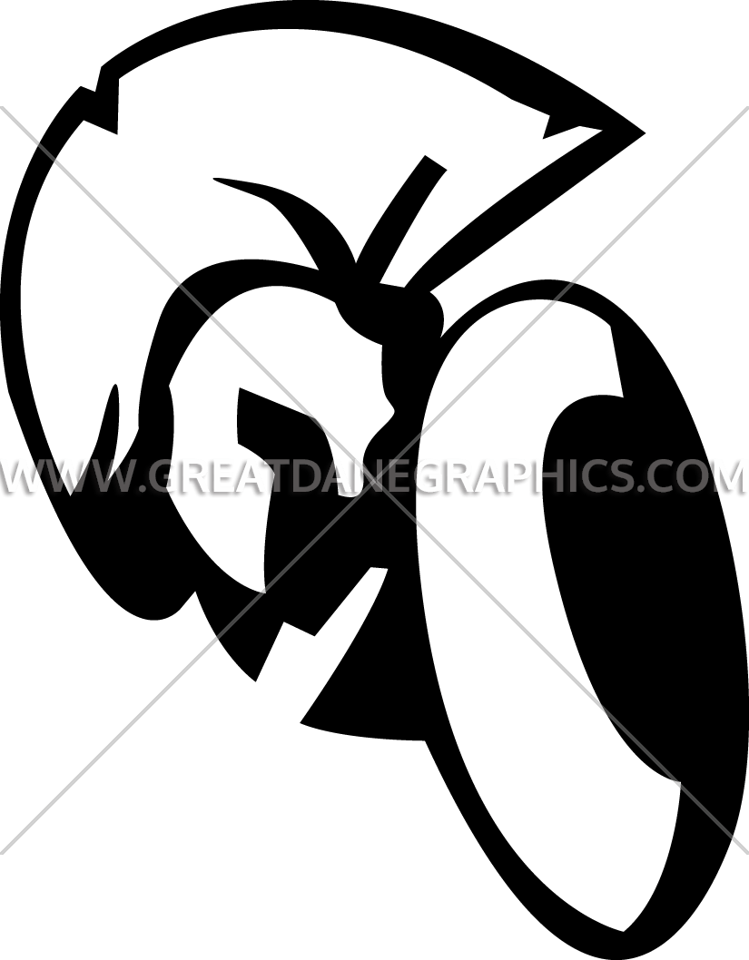 Clipart shield spartan shield. Head with production ready