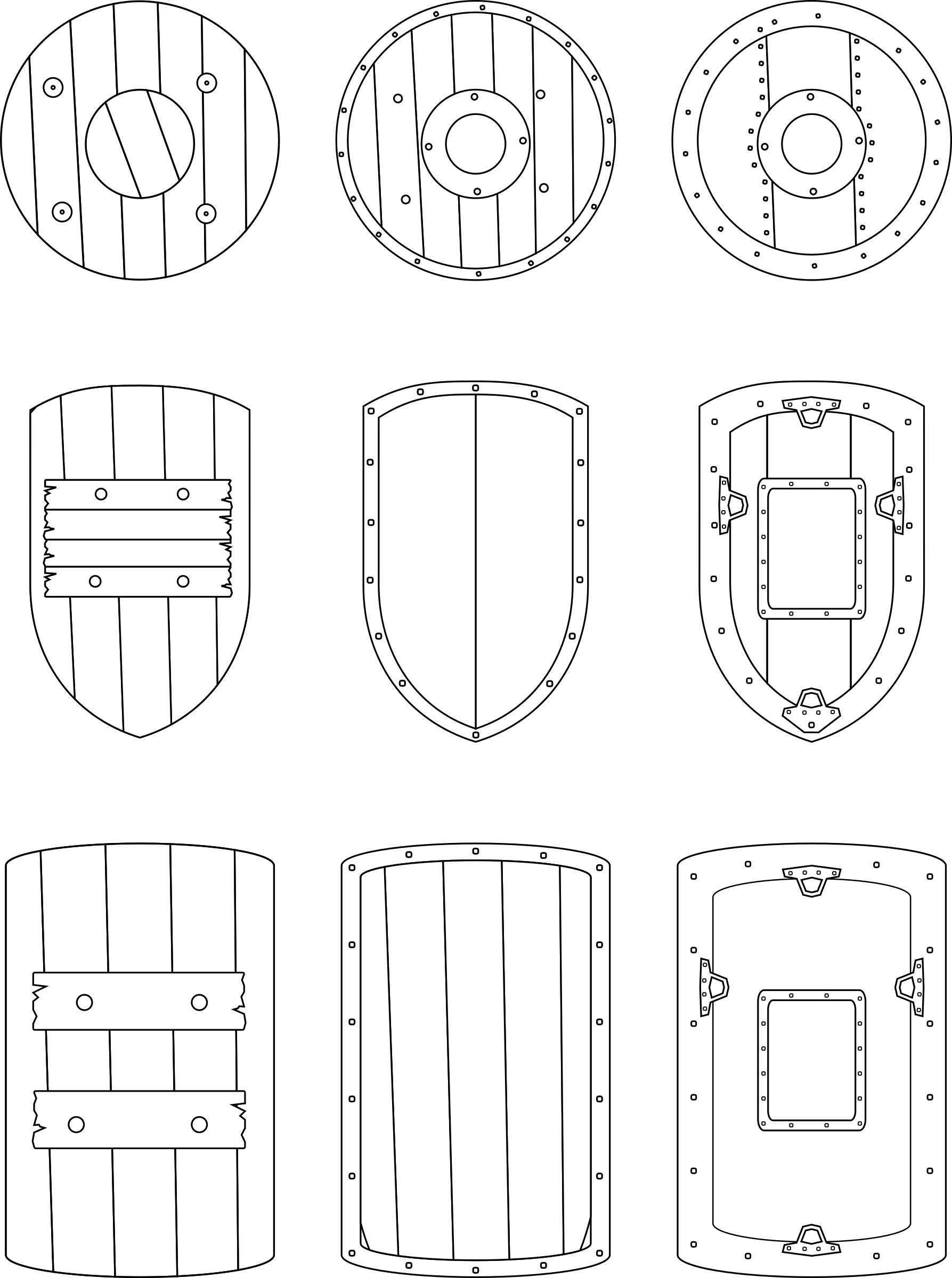 Medieval shields. Clipart shield steel