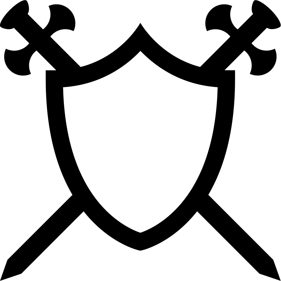 Clipart shield sword. With two swords in