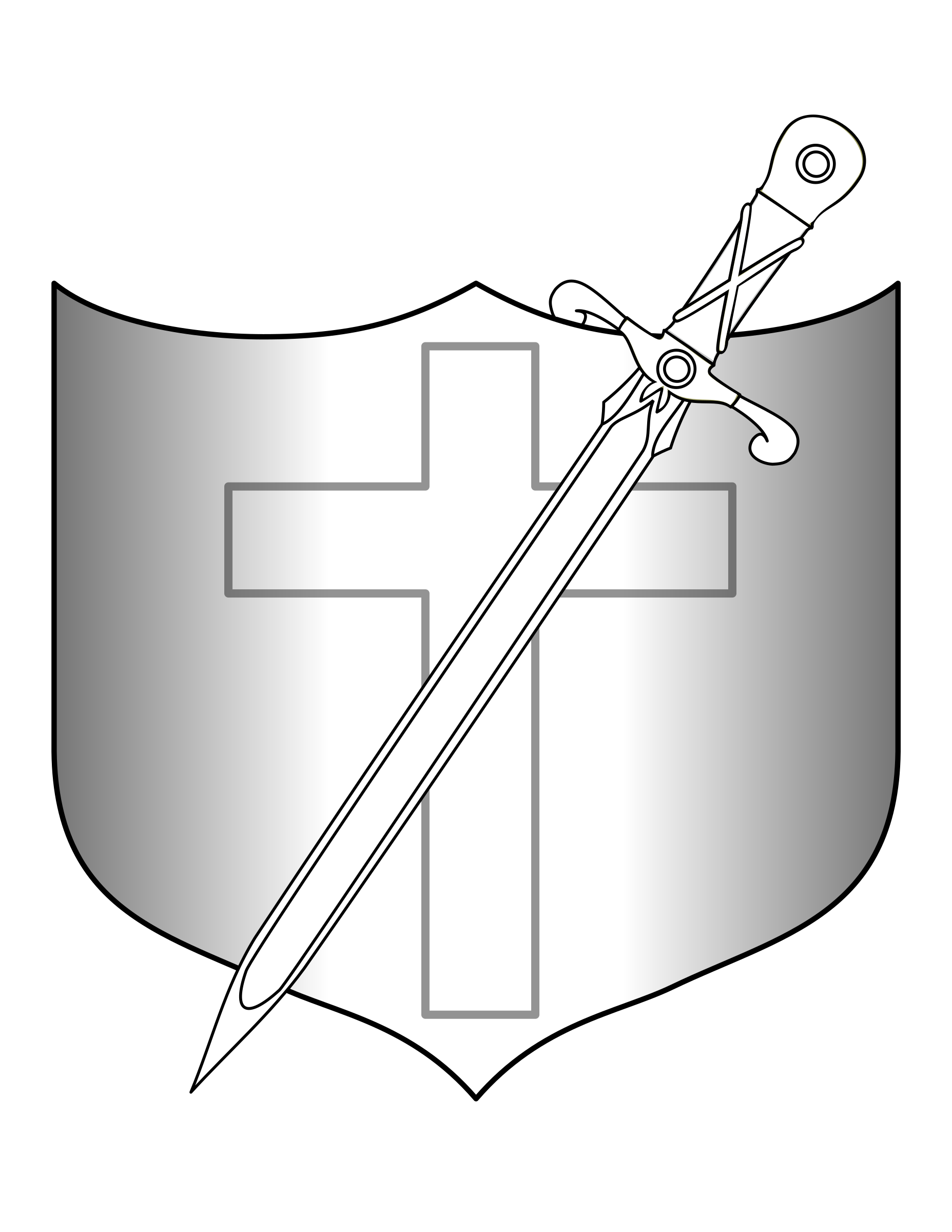 Clipart shield sword. And longsword big image