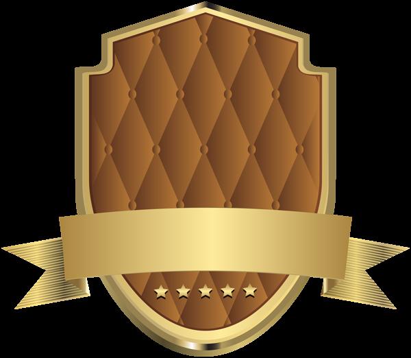 Elegant template clip art. Label clipart brown