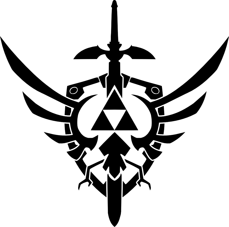 Clipart shield vector. Legend of zelda logo
