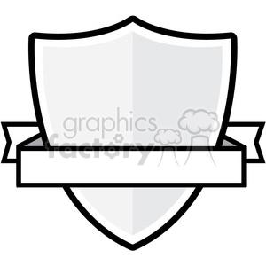 Clipart shield vector. Ribbon and royalty free