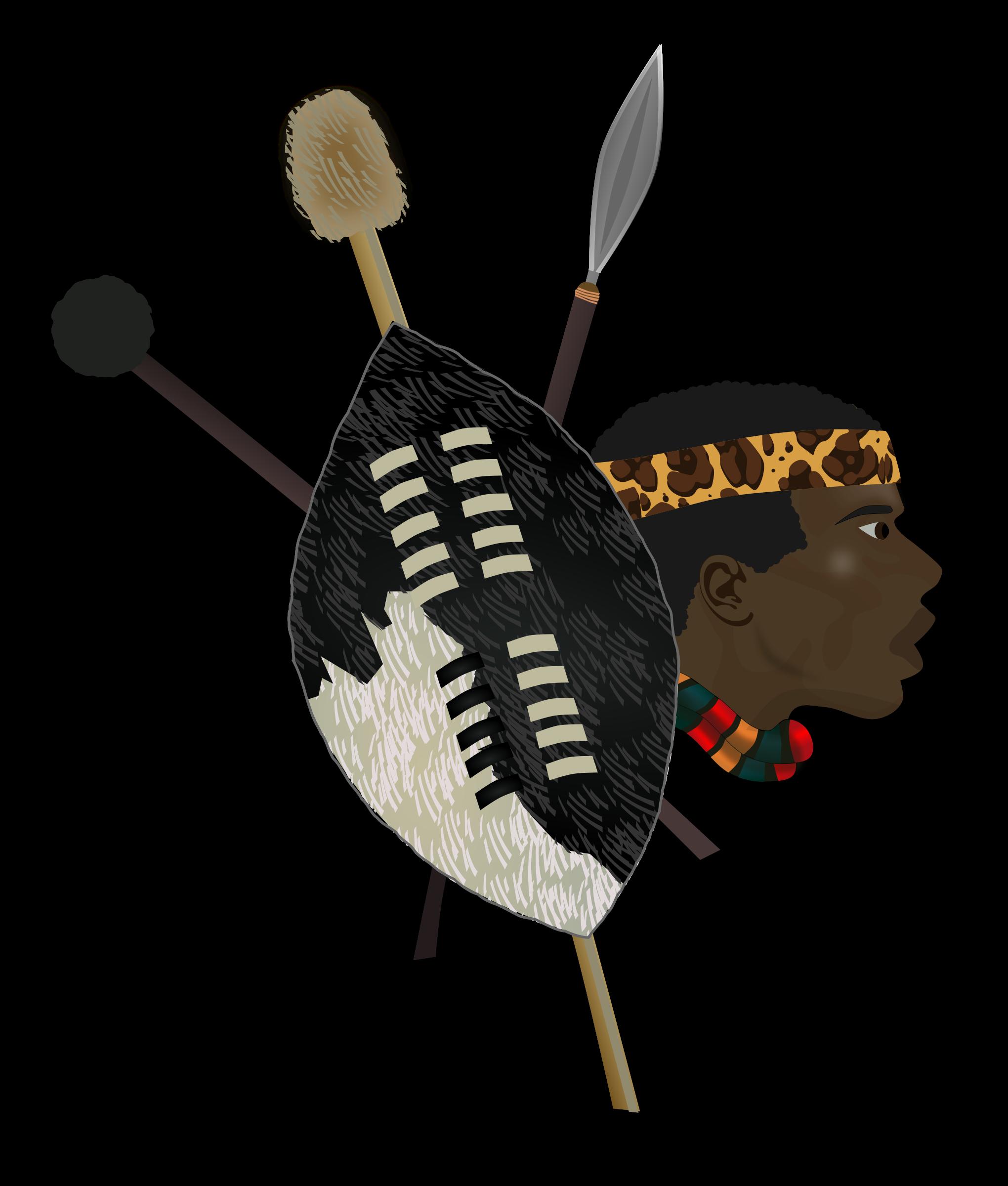 Warrior clipart blue. Zulu big image png