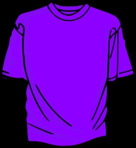Clipart shirt. T purple clip art