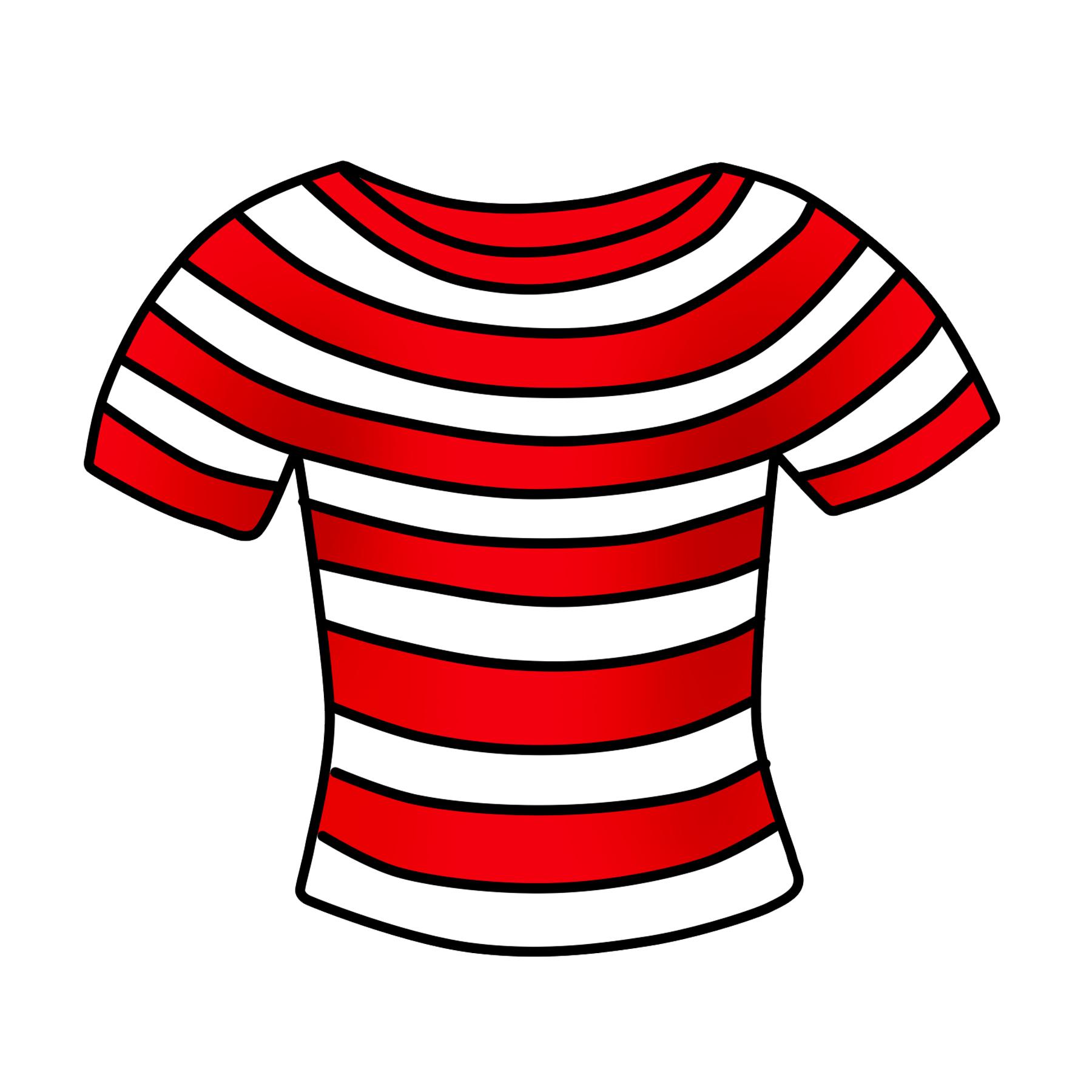 T free striped clip. Clipart shirt