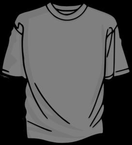 Clipart shirt. T gray clip art