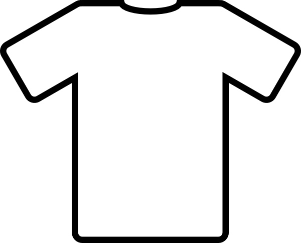 White t shirt clip. Shirts clipart