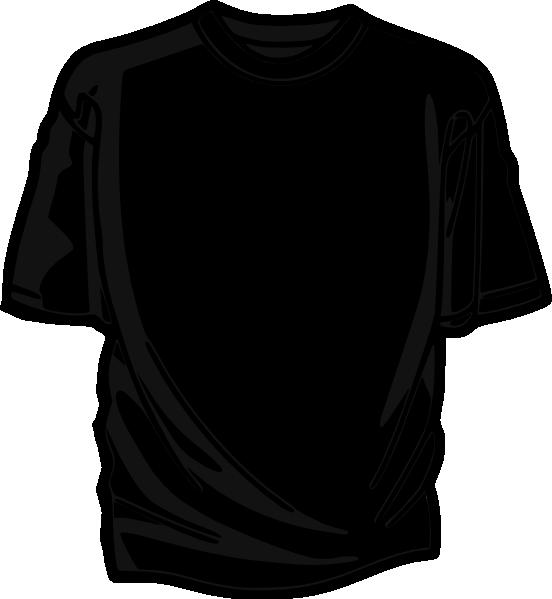 Clipart shirt baju. Black t clip art