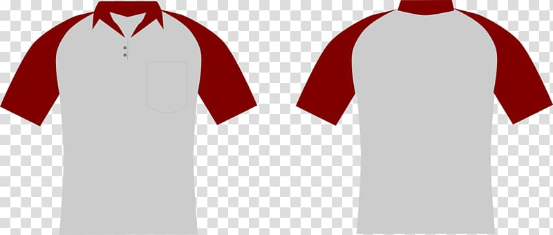 Clipart shirt baju. Red and white polo