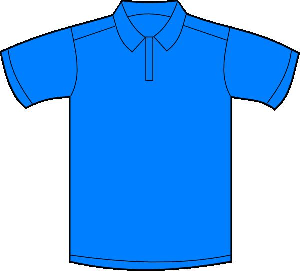 Polo blue front clip. Clipart shirt baju