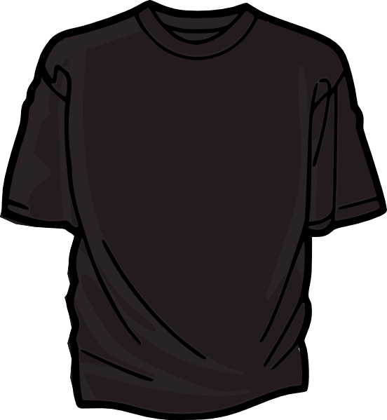 Sock clipart dark clothes. Black t shirt clip