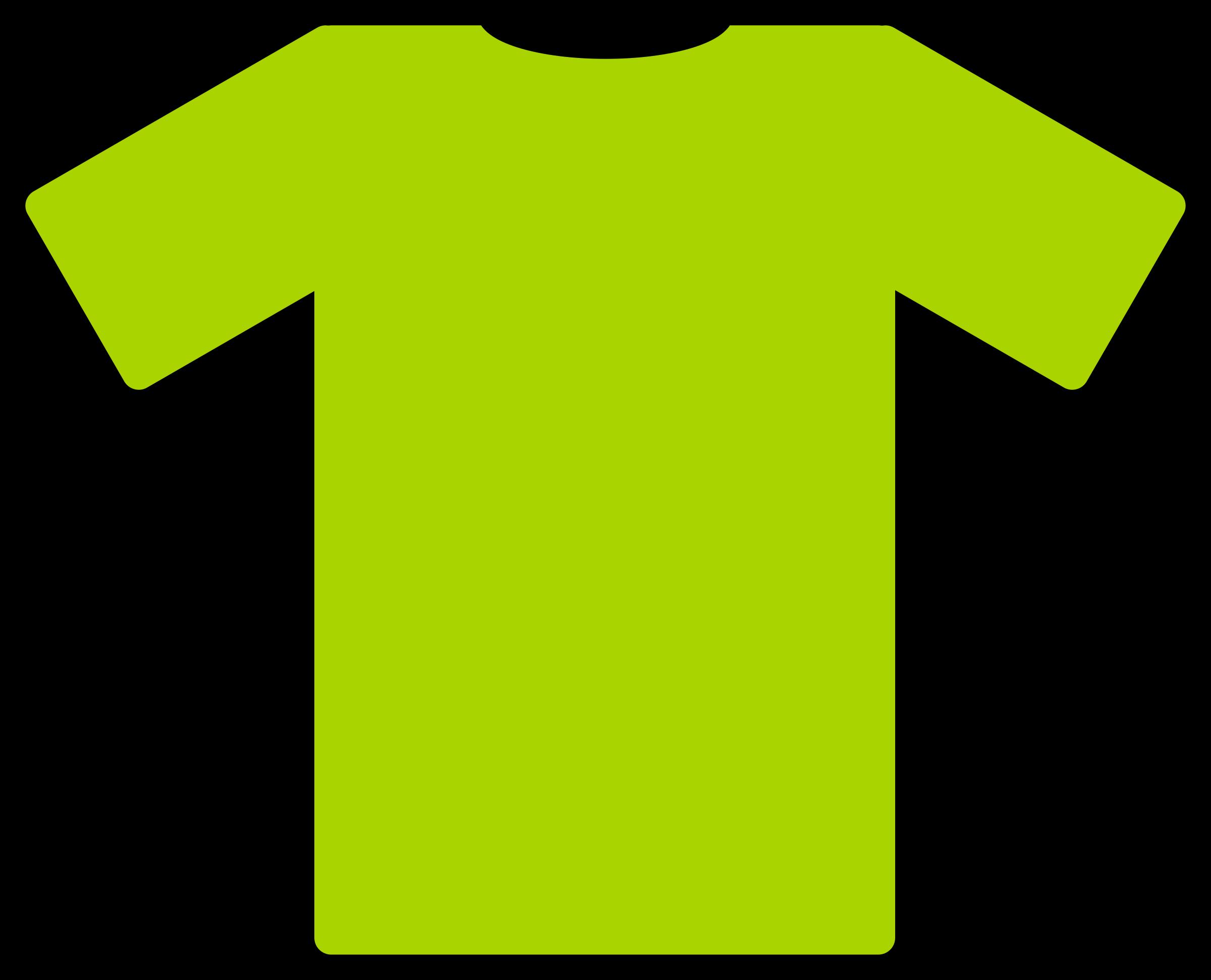 Green t big image. Clipart shirt clothing